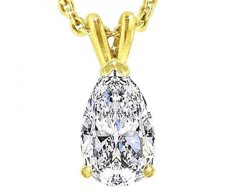 The Great 1884 1,00 ct Diamant Anhänger in Gelbgold