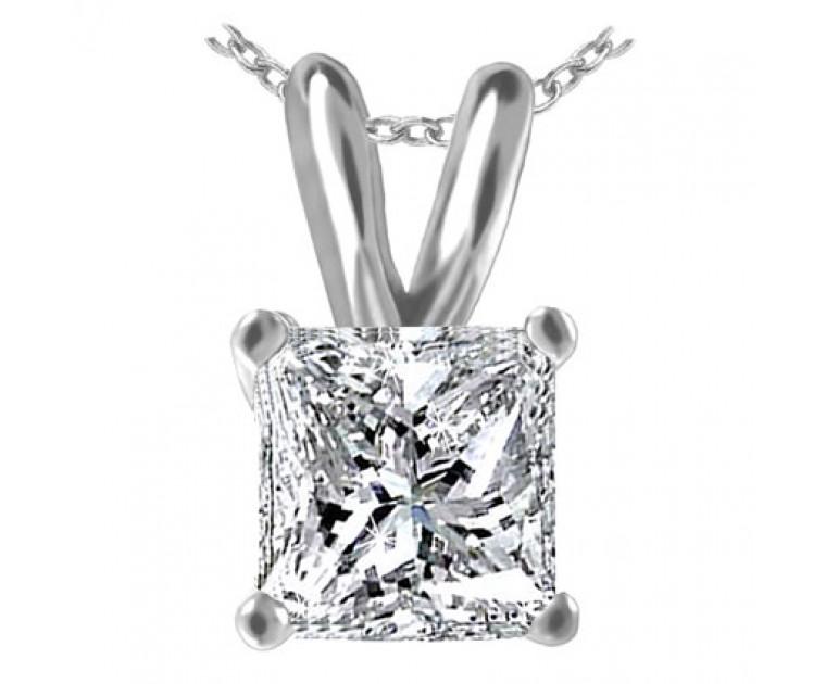 Original Empire 3,00 ct Diamant Anhänger in Weissgold