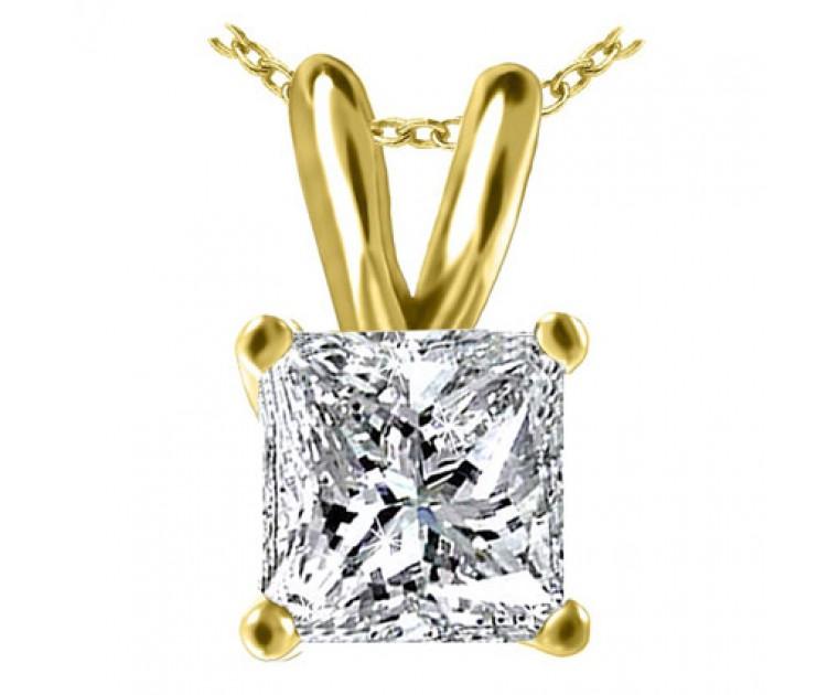 Original Empire 0,50 ct Diamant Anhänger in Gelbgold