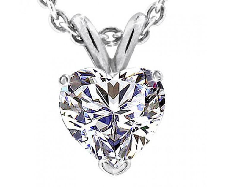 Original Empire 1,00 ct Diamant Anhänger in Weissgold