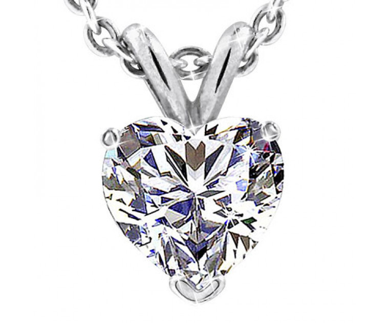 Original Empire 2,50 ct Diamant Anhänger in Weissgold