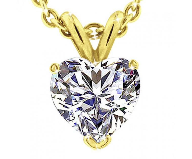 Original Empire 4,00 ct Diamant Anhänger in Gelbgold